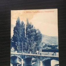 Cartoline: RIPOLL - POSTAL PUENTE ESTACIÓN Y TRANSPIRENAICO - THOMAS. Lote 223778466