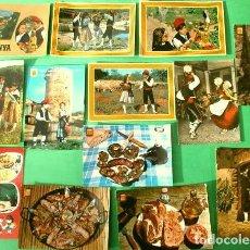 Postales: LOTE 14 POSTALES CATALANAS (AÑOS 60) CATALUÑA TIPICA, CATALUNYA, PLATOS TIPICOS, PAYS CATALAN, NIÑOS. Lote 224013247