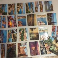 Postales: 31 POSTALES DE SANT FELIU DE GUIXOLS - DE TODO - COSTA BRAVA ( PERALTA TOROS, COCHES, PLAYA...). Lote 224969685