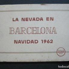 Postales: BARCELONA-LA NEVADA EN NAVIDAD-AÑO 1962-BLOC CON 7 FOTOS-WASSERMAN-VER FOTOS-(75.712). Lote 225024120