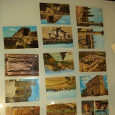 Postales: 16 POSTALES AMPÚRIES - MURALLAS Y RUINAS ROMANAS. Lote 225083155