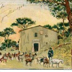 Postales: GRANJA CAL TOCHU PARA SERVICIO DEL GRAN CAFÉ DEL RESTAURANT TIBIDABO-AÑO 1905-RARA. Lote 225478615