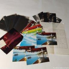 Postales: ¡IRREPETIBLE! BAÑOLAS, ATARDECER EL PERGAMINO 1242 CLICHÉS + PRUEBAS DE CAPAS + POSTAL. Lote 225902855
