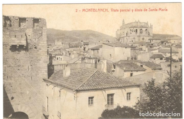 MONTBLANCH. VISTA PARCIAL Y ÀBSIS DE SANTA MARIA Nº 2. FOT THOMAS. (Postales - España - Cataluña Antigua (hasta 1939))