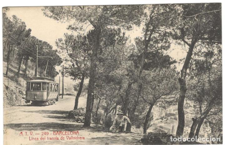 BARCELONA, LINEA DEL TRANVIA DE VALLVIDRERA. A.T.V. 249.SIN CIRCULAR. (Postales - España - Cataluña Antigua (hasta 1939))