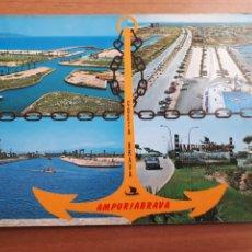 Cartes Postales: EMPURIABRAVA. ENTRADAS Y VISTA PANORÁMICA. POSTAL AÑOS 70. Lote 225983710