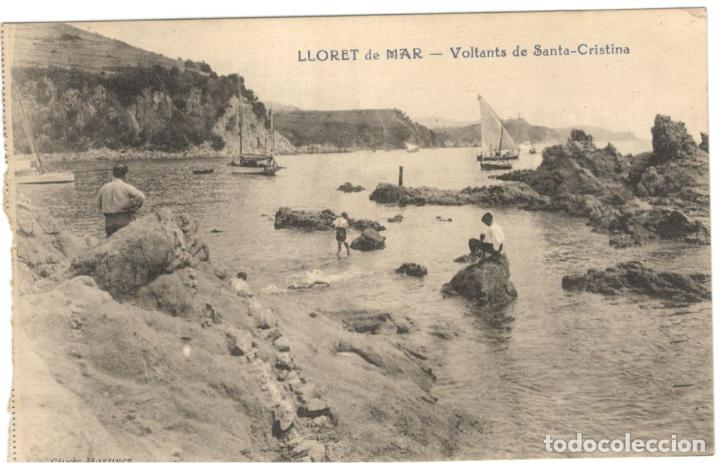 LLORET DE MAR - VOLTANTS DE SANTA CRISTINA. SIN CIRCULAR. (Postales - España - Cataluña Antigua (hasta 1939))