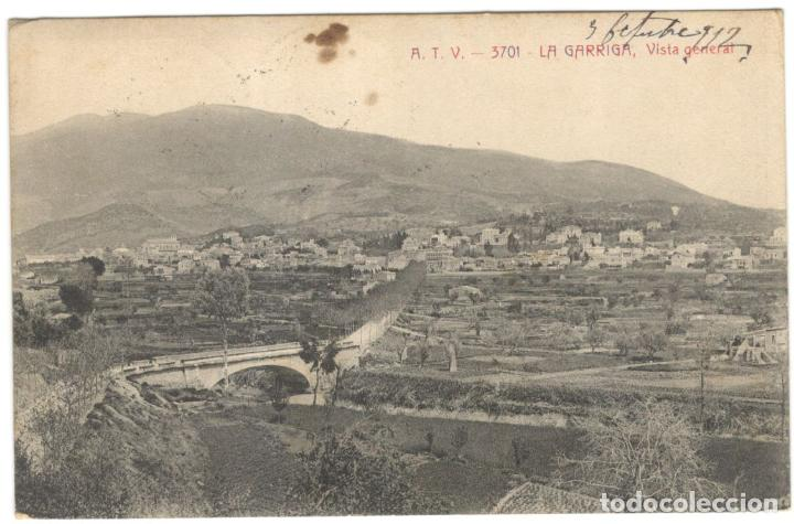LA GARRIGA - VISTA GENERAL. A.T.V. 3701, CIRCULADA EN 1912. (Postales - España - Cataluña Antigua (hasta 1939))