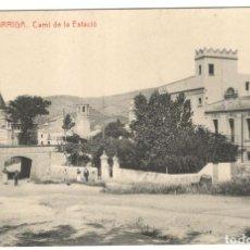 Postales: LA GARRIGA. CAMÍ DE LA ESTACIÓ. Nº 8 FOT. THOMAS, SIN CIRCULAR.. Lote 226399180