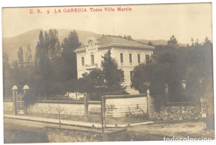 POSTAL FOTOGRAFICA. LA GARRIGA. TORRE VILLA MARTIN E.R. 9 (Postales - España - Cataluña Antigua (hasta 1939))