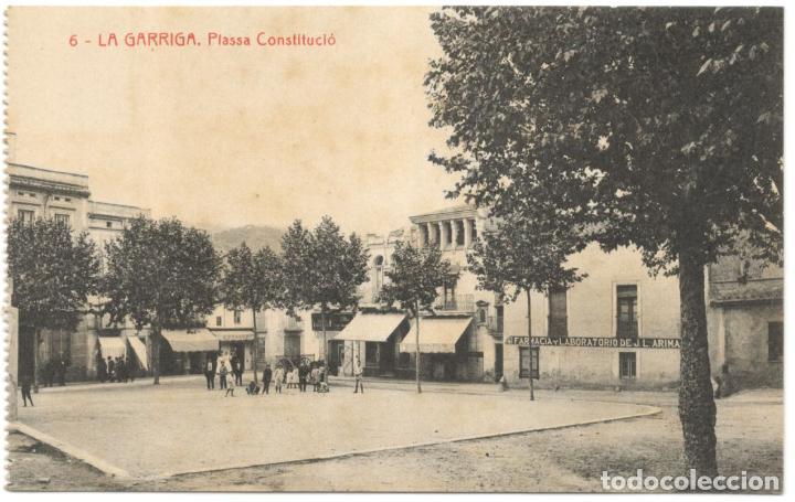 LA GARRIGA. PLASSA CONSTITUCIÓ. Nº 6 FOT. THOMAS, SIN CIRCULAR. (Postales - España - Cataluña Antigua (hasta 1939))