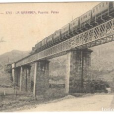 Postales: LA GARRIGA. PUENTE. PALAU A.T.V. 3715 SIN CIRCULAR.. Lote 226400080