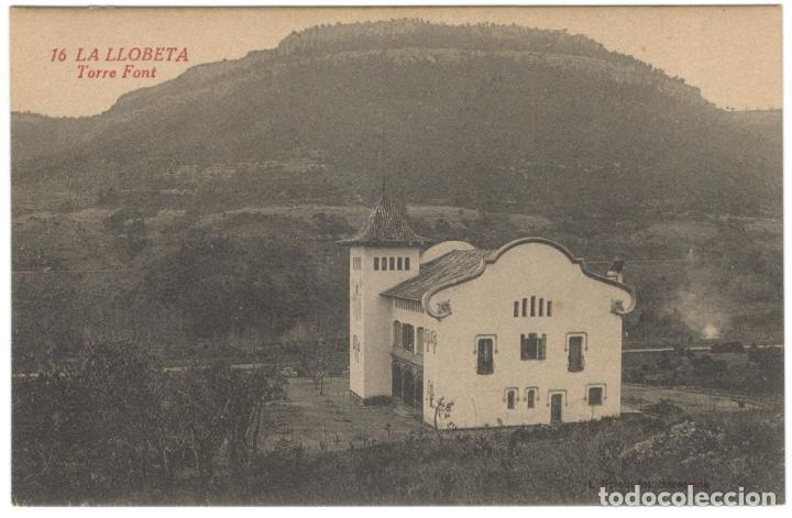 LA LLOBETA. TORRE FONT Nº 16. SIN CIRCULAR.L ROISIN. (Postales - España - Cataluña Antigua (hasta 1939))