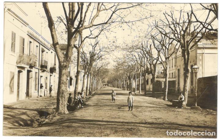 POSTAL FOTOGRAFICA. LA GARRIGA. PASEO LA GARRIGA.E.R. 7. SIN CIRCULAR. (Postales - España - Cataluña Antigua (hasta 1939))