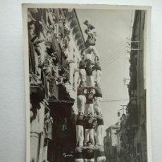 Postales: VALLS. TARRAGONA. XIQUETS DE VALLS EN EL ESBELTO TRES DE VUIT. CASTELLERS, FOT. GURI.M Nº3. Lote 228191795