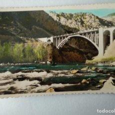 Postales: OLIANA Nº 107 PONT NOU SOBRE EL RIO SEGRE .- FOTO JANOT. Lote 228193095