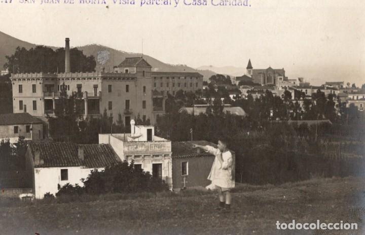 SAN JUAN DE HORTA. A17 VISTA PARCIAL Y CASA CARIDAD. FOTOGRÁFICA (Postales - España - Cataluña Antigua (hasta 1939))