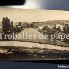 Postales: SALLENT - LLOBREGAT - BAGES - PAISSATGE INDUSTRIAL DEL RIU - POSTAL FOTOGRÀFICA. Lote 231176325