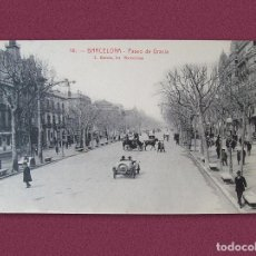 Postales: ANTIGUA POSTAL DE BARCELONA - PASEO DE GRACIA. Lote 231640600