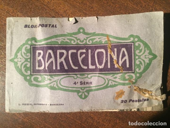 BLOK POSTAL BARCELONA - 4ª SERIE - L. ROISIN FOTOGRAFO - PRINCIPOS SIGLO XX (Postales - España - Cataluña Antigua (hasta 1939))
