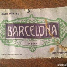 Postales: BLOK POSTAL BARCELONA - 4ª SERIE - L. ROISIN FOTOGRAFO - PRINCIPOS SIGLO XX. Lote 232718231