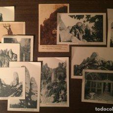 Postales: LOTE DE 13 POSTALES CATALUÑA - MONTSERRAT - ANTIGUAS. Lote 232719420