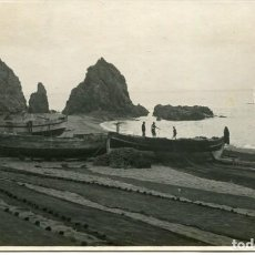 Postales: TOSSA-BARCAS DE PESCA Y REDES-FOTOGRÁFICA- AÑO 1923- RARA. Lote 234288460