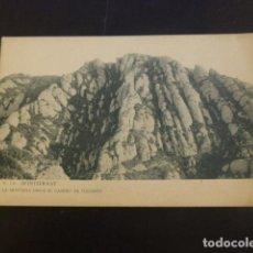 Cartes Postales: MONTSERRAT BARCELONA LA MONTAÑA DESDE EL CAMINO DE COLLBATO. Lote 234298435