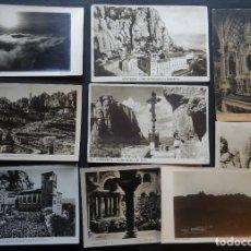 Postales: COLECCIÓN DE 9 POSTALES DE MONTSERRAT DESDE EL AÑO 1916 A LOS AÑOS 50, VER FOTOGRAFÍAS. Lote 234329300