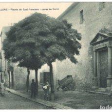 Postales: GRANOLLERS - PLACETA DE SANT FRANCISCO I CARRER DE CORRÓ. SIN CIRCULAR.. Lote 234375445