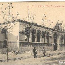 Postales: GERONA. MERCADO DE GANADO. A.T.V. 4323. SIN CIRCULAR.. Lote 234405535