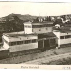 Postales: IGUALADA. PISCINA MUNICIPAL Nº12, CIRCULADA EN 1952.. Lote 234448625