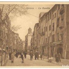 Postales: GERONA - LA RAMBLA. ED. D.C.P. SIN CIRCULAR.. Lote 234486260