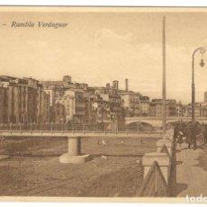 Postales: GERONA - RAMBLA VERDAGUER. ED. D.C.P. SIN CIRCULAR.. Lote 234503080
