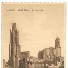 Postales: GERONA - SANT FELIU I LA CATEDRAL. ED. D.C.P. SIN CIRCULAR.. Lote 234504595