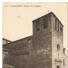 Postales: VILALLEONS. EXTERIOR DE L'ESGLESIA. Nº10. HUECOGRABADO JOAQUIN MUMBRÚ.. Lote 234507725
