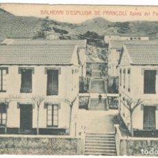 Postales: BALNEARI D'ESPLUGA DE FRANCOLI. XALETS DEL PARCH. FOTOTIPIA THOMAS.. Lote 234531150