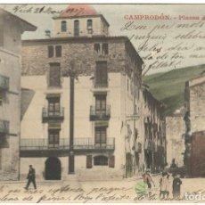 Postales: CAMPRODÓN.- PLASSA D'ALFONS XII - VDA VILA Y FILL. CIRCULADA EN 1907.. Lote 234549595