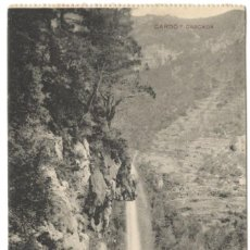 Postales: POSTAL DE CARDÓ. CASCADA. CIRCULADA EN 1921.. Lote 234568955
