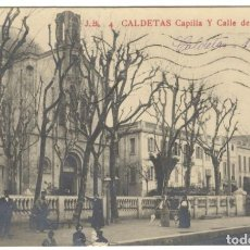Postales: POSTAL FOTOGRAFICA - CALDETAS - CAPILLA Y CALLE DEL CARMEN. J.B. 4. Lote 234671595