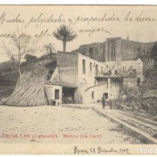 Postales: CALDETAS - MOLINO DE DALT Nº11 CIRCULADA EN 1906.. Lote 234675760