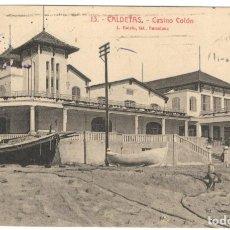 Postales: CALDETAS. CASINO COLÓN. Nº 13. L.ROISÍN.. Lote 234747190