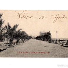 Postales: S. JUAN DE VILASAR.- PASEO. FERROCARRIL.. Lote 234759740