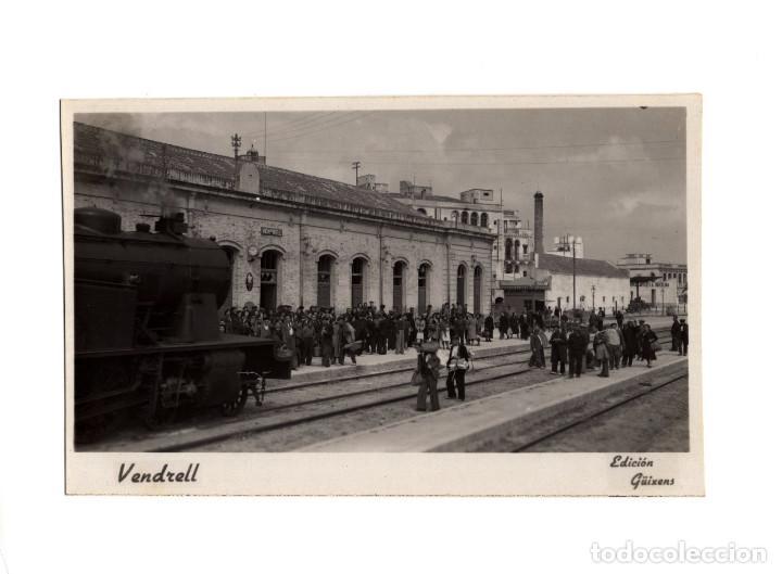 VENDRELL.-ESTACIÓN DEL FERROCARRIL. POSTAL FOTOGRÁFICA. ED. GÜIXENS. (Postales - España - Cataluña Antigua (hasta 1939))