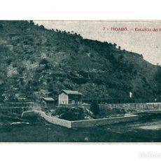 Postales: FIGARÓ.- ESTACIÓN DEL FERROCARRIL.. Lote 234857250