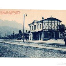 Postales: OLESA DE MONSERRAT.- ESTACIÓN DEL FERROCARRIL CATALANES.. Lote 234860245