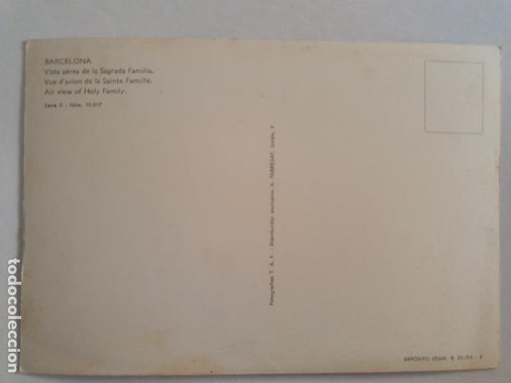 Postales: BARCELONA - VISTA AÉREA DE LA SAGRADA FAMILIA - CASCADA - P42770 - Foto 2 - 234903825