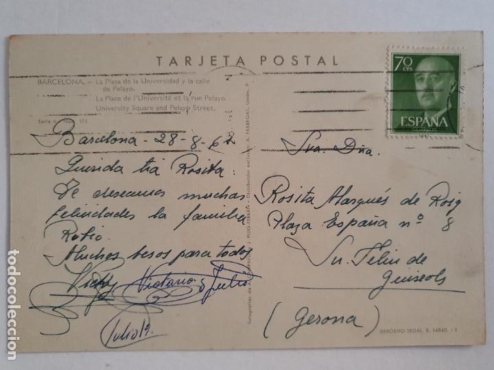 Postales: BARCELONA - PLAÇA UNIVERSITAT I CARRER4 PELAI / PELAYO - ALMACENES EL ÁGUILA - P42776 - Foto 2 - 234906195