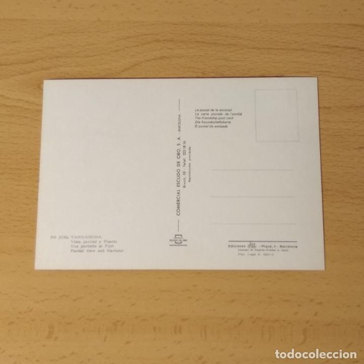 Postales: Postal Tarragona nº 3064. Vista Parcial y puerto. Comercial Escudo de Oro. Sin circular. - Foto 2 - 234906395