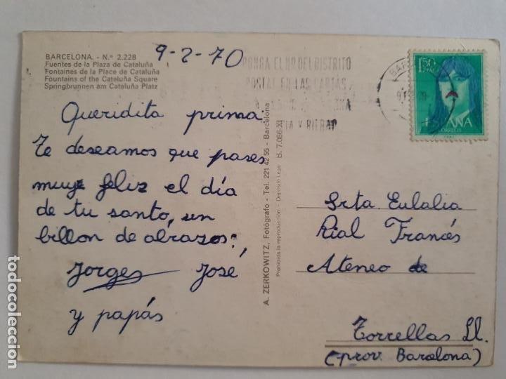 Postales: BARCELONA - FONTS / FUENTES PLAÇA CATALUNYA - P42781 - Foto 2 - 234908285